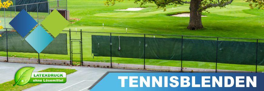 Tennisblenden bedruckt
